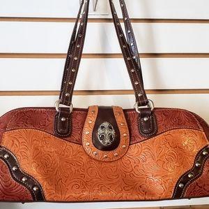 Western leather purse